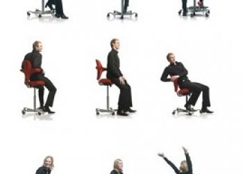 Ergonomic sit standing chair for workstations