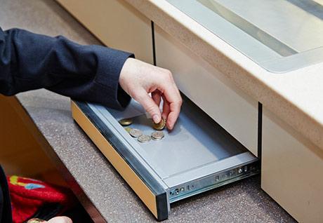Transaction tray in Paddington