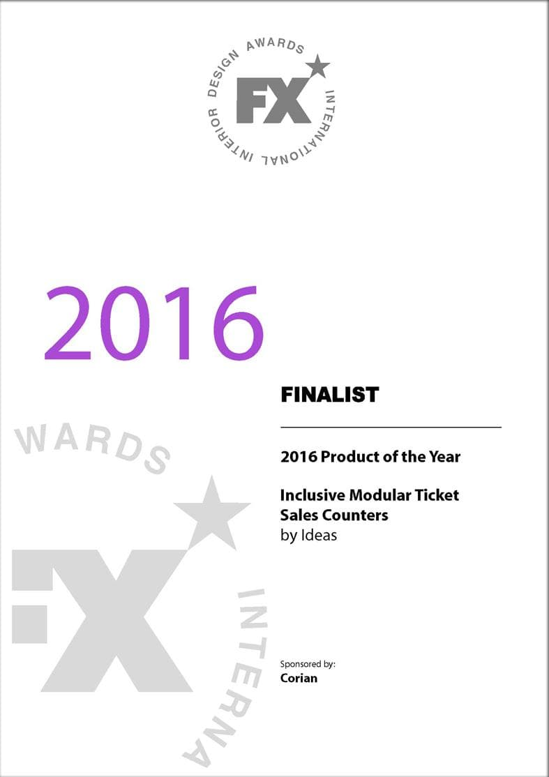 FX Design Awards Certificate